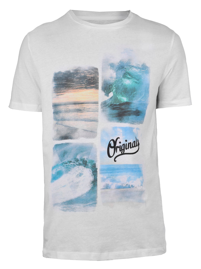 BEACH PRINT T-SHIRT WHITE