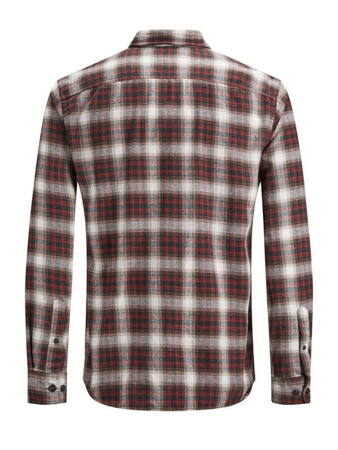 CHECKERED COMFORT FIT ORIGINALS SHIRT FIERY RED