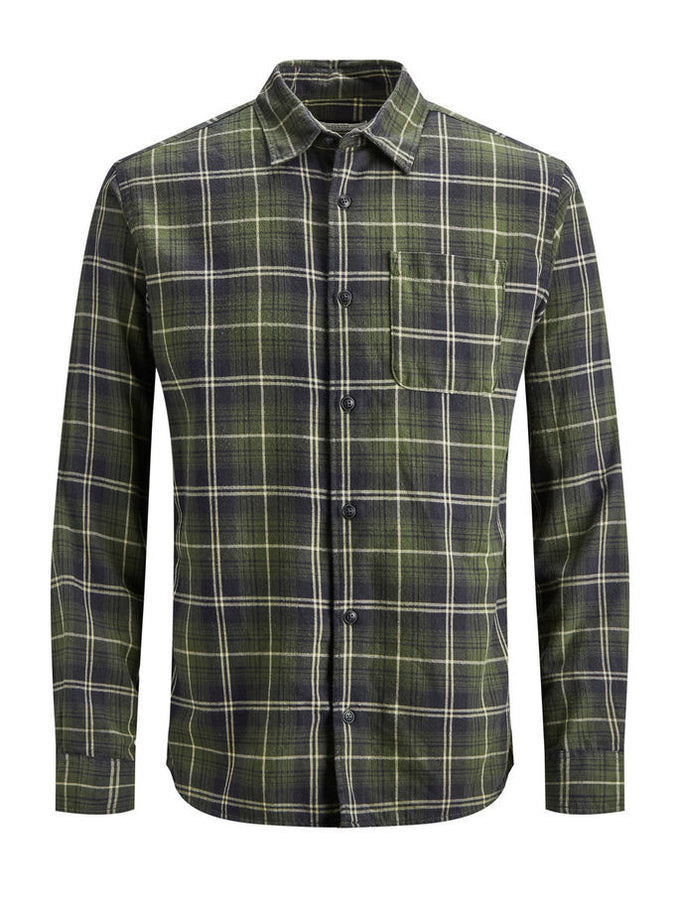 CHECKERED COMFORT FIT ORIGINALS SHIRT FOREST NIGHT/COMFORT