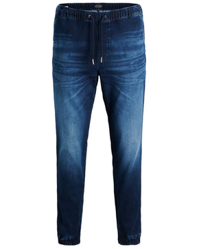PANTALON JOGGER EN DENIM INDIGO KNIT