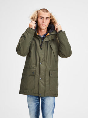 PREMIUM PARKA WITH FAUX-FUR HOOD