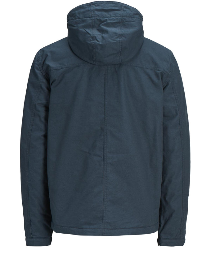 HOODED JACKET WITH QUILTED LINING TOTAL ECLIPSE