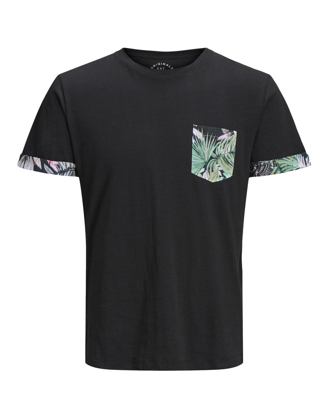 FLORAL POCKET T-SHIRT TAP SHOE