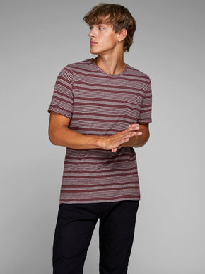 PREMIUM STRIPED POCKET T-SHIRT
