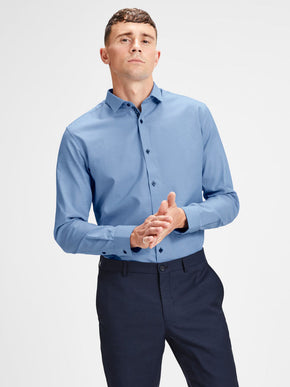 SLIM FIT MICRO-PRINT DRESS SHIRT