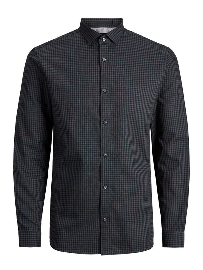 ESSENTIAL GINGHAM SHIRT SCARAB