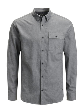 BRUSHED COTTON POCKET SHIRT