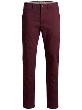 PANTALON CHINO COUPE MARCO BOURGOGNE