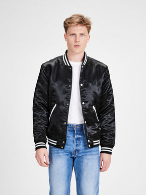 BOMBER JACKET WITH CHECKERED LINING
