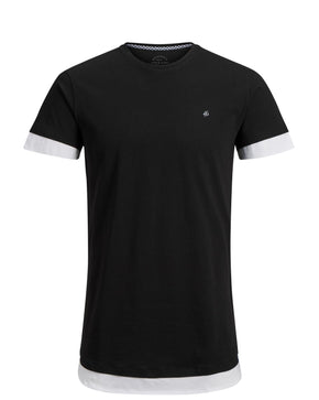 LONG FIT T-SHIRT WITH LAYERED DETAILS