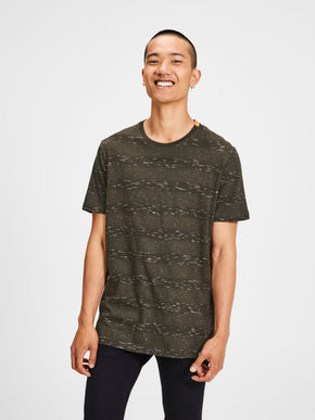 HIGH-LOW T-SHIRT WITH PATTERNS