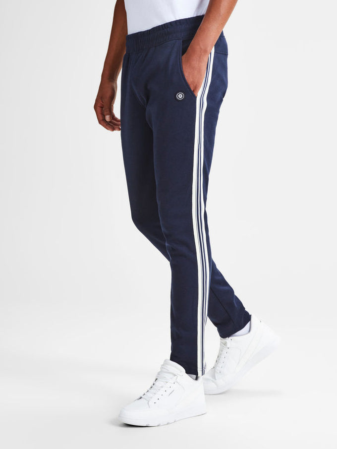 CORE STRIPED STRIPED SWEATPANTS SKY CAPTAIN