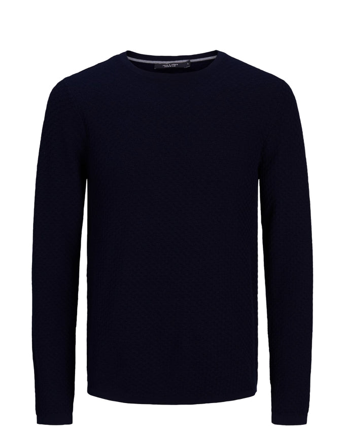 PREMIUM KNIT SWEATER MARITIME BLUE