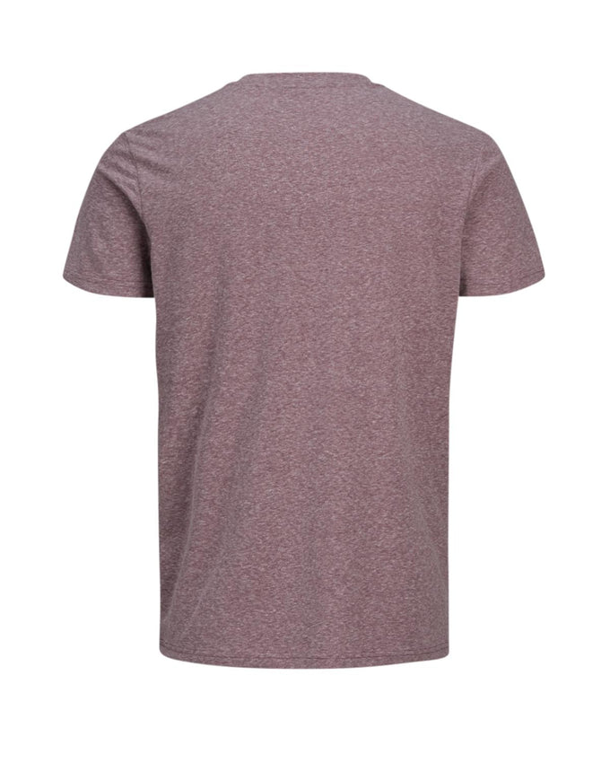 HEATHERED T-SHIRT WITH LOGO PORT ROYALE