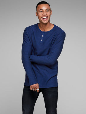 LIGHT HENLEY T-SHIRT