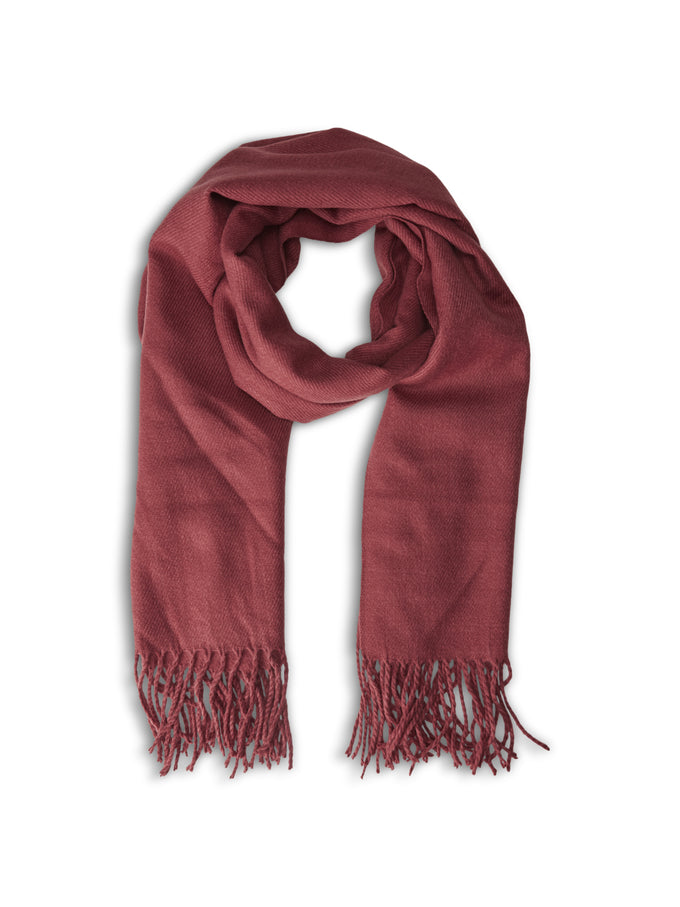 SOLID SCARF BRICK RED