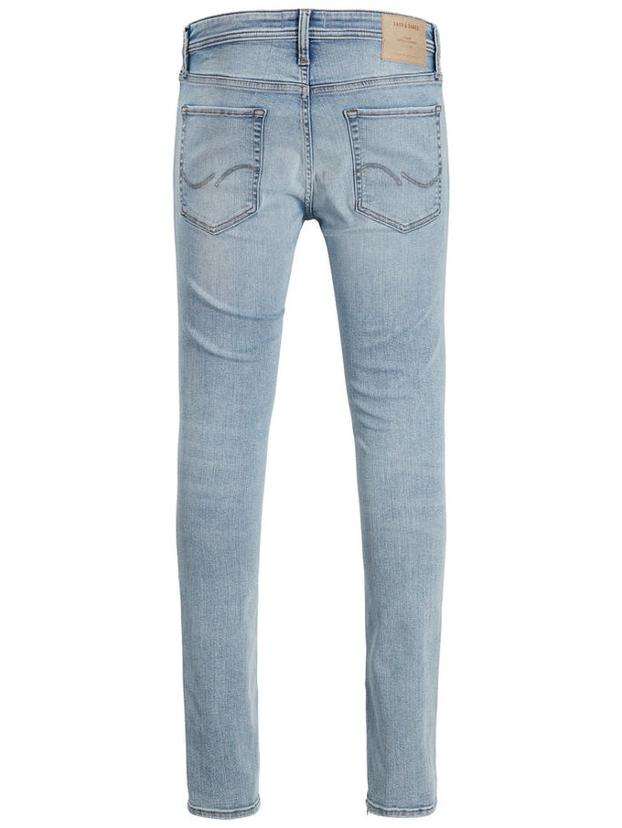 SKINNY FIT ZIPPED ANKLES LIAM 745 JEANS BLUE DENIM