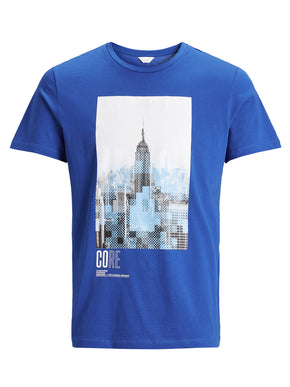 PIXELATED CITY PRINT T-SHIRT