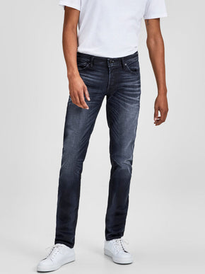 GLENN 745 INDIGO KNIT STRETCH SLIM FIT JEANS