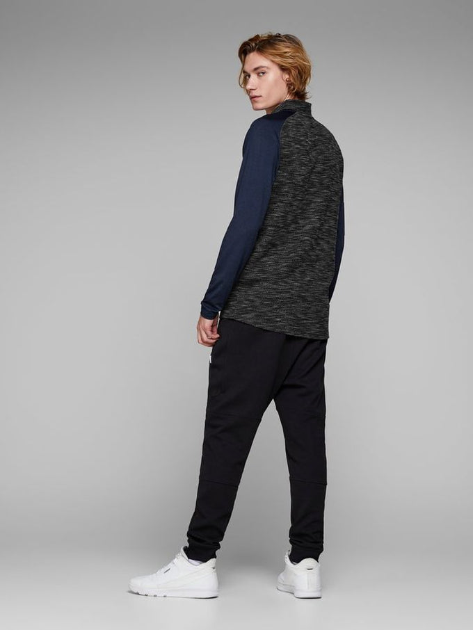 HALF-ZIP PERFORMANCE SWEATER GREY MELANGE
