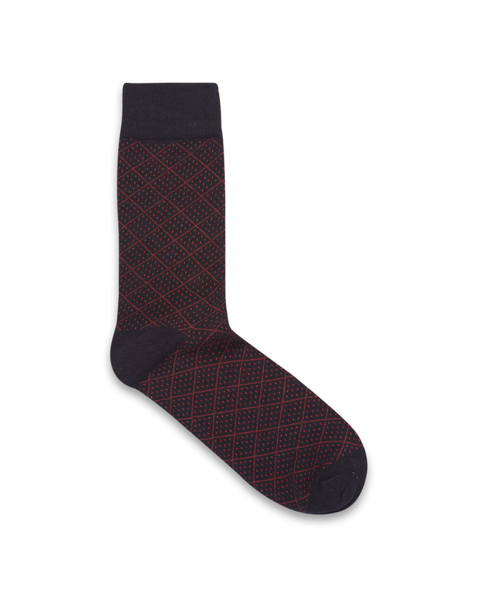 DOT PATTERN SOCKS BLACK/PATTERN