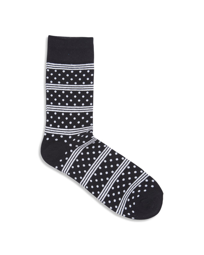 PATTERNED SOCKS BLACK/STRIPES