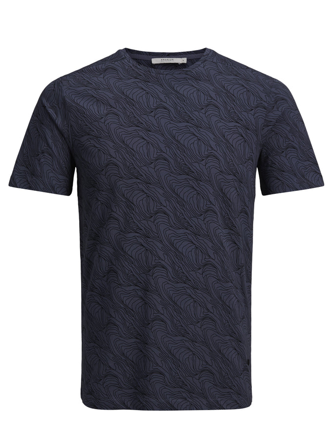PATTERNED PREMIUM T-SHIRT GRISAILLE
