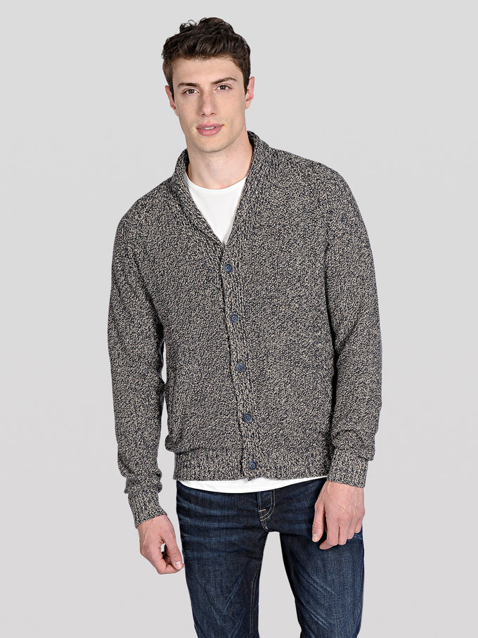 TWO-TONE PREMIUM CARDIGAN TOTAL ECLIPSE