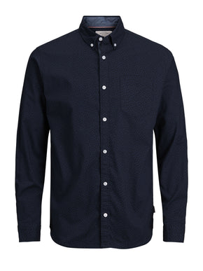 SLIM FIT MICRO-PRINT SHIRT