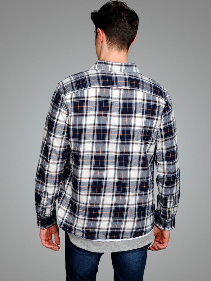 CHECKERED COMFORT FIT ORIGINALS SHIRT MEERKAT