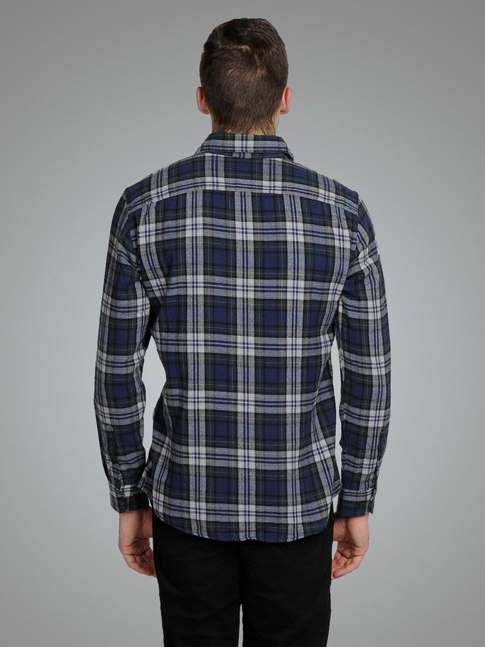 CHECKERED COMFORT FIT ORIGINALS SHIRT FOREST NIGHT