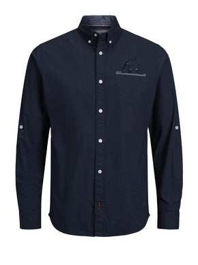 COMFORT FIT SHIRT WITH POCKET SQUARE