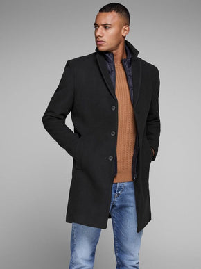 2-IN-1 WOOL DRESS COAT