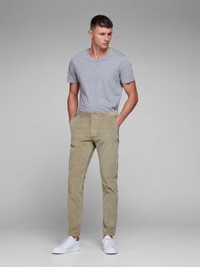 CORDUROY SLIM FIT PANTS