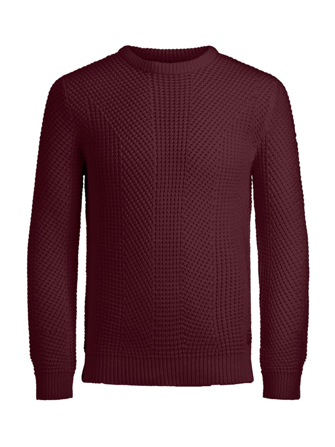LOOSE FIT CORE SWEATER ZINFANDEL