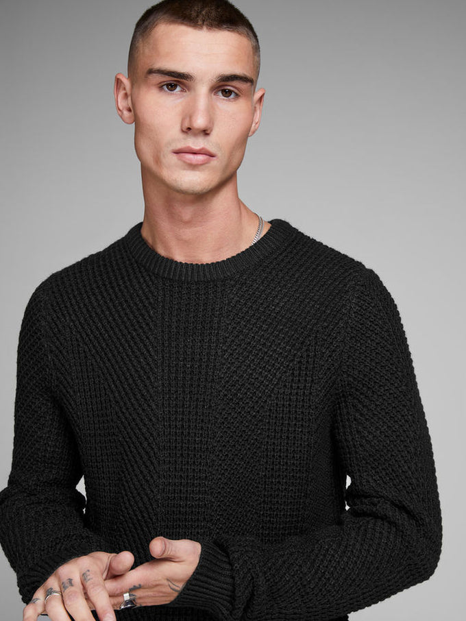 LOOSE FIT CORE SWEATER BLACK