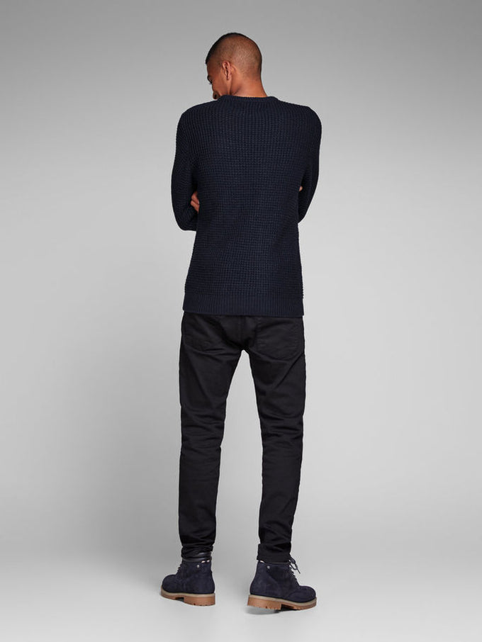 LOOSE FIT CORE SWEATER BLACK NAVY