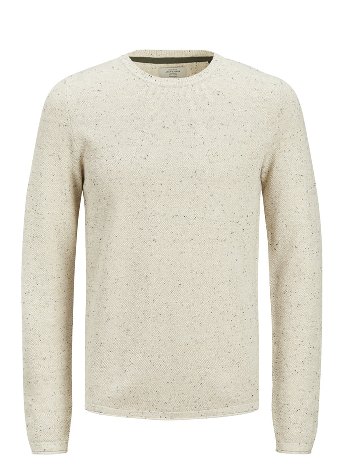 FLECKED ORIGINALS SWEATER CLOUD DANCER