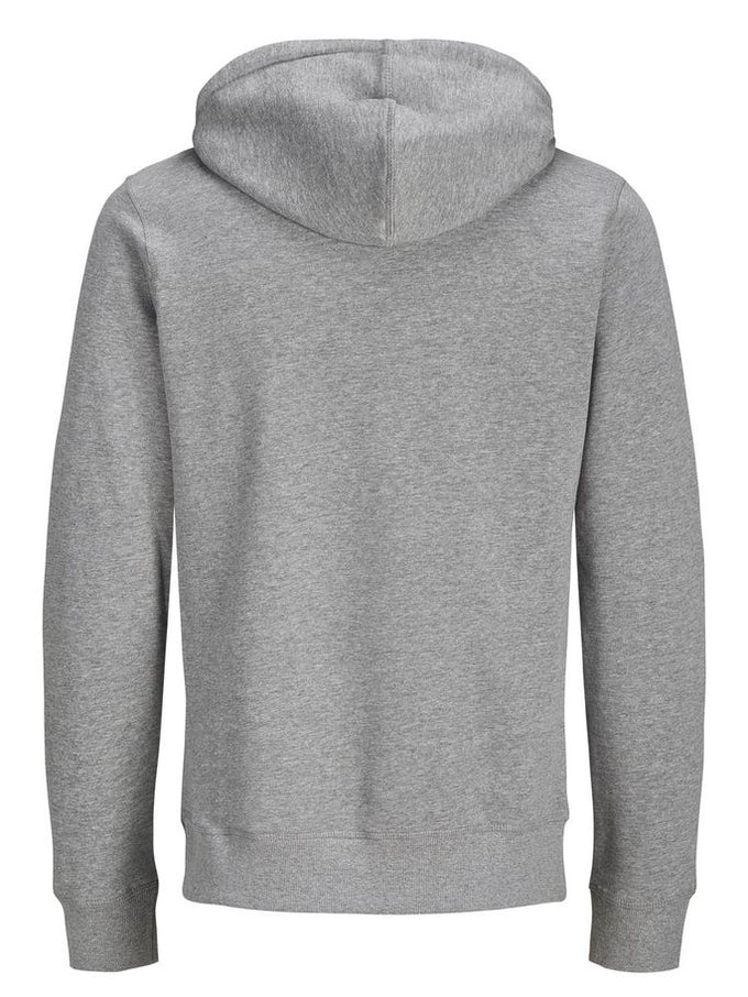 COLOURBLOCK LOGO HOODIE LIGHT GREY MELANGE