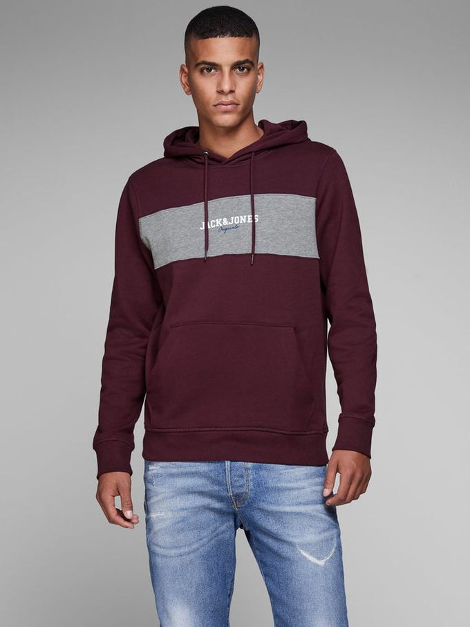 COLOURBLOCK LOGO HOODIE PORT