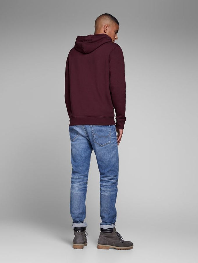 COLOURBLOCK LOGO HOODIE PORT ROYALE