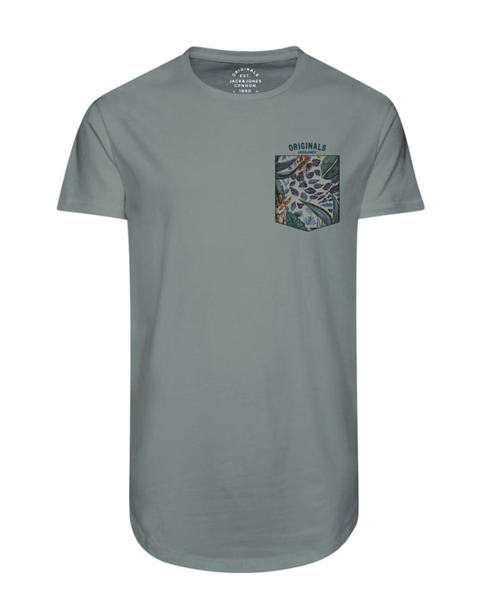 LONG FIT SUMMER POCKET T-SHIRT ICEBERG GREEN