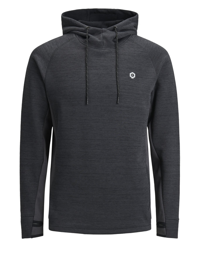 HEATHERED PERFORMANCE HOODIE ASPHALT