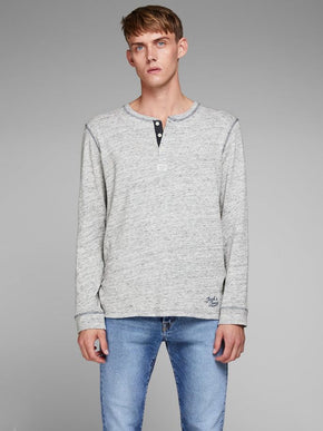 HEATHERED HENLEY T-SHIRT