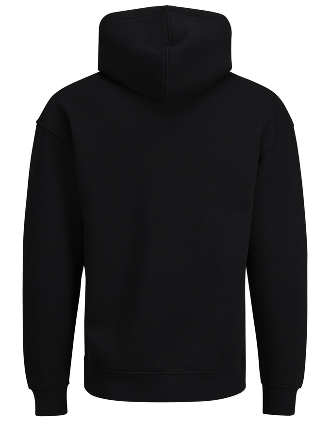 COLOURFUL HOODIE WITH TEDDY LINING BLACK