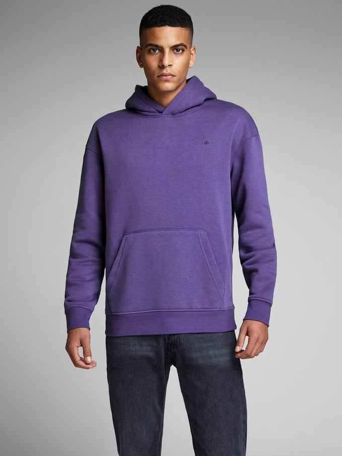 COLOURFUL HOODIE WITH TEDDY LINING DEEP WISTERIA