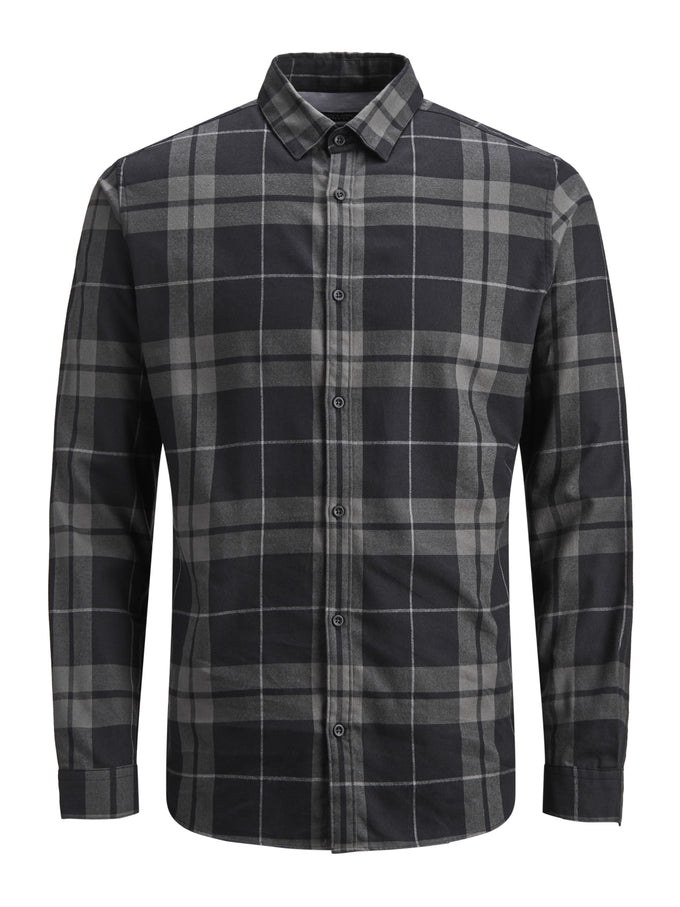 SLIM FIT CLASSIC CHECKERED SHIRT MAGNET