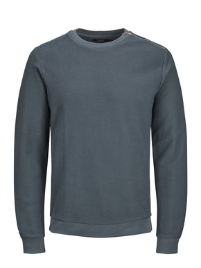 PREMIUM SWEATSHIRT WITH SHOULDER ZIP