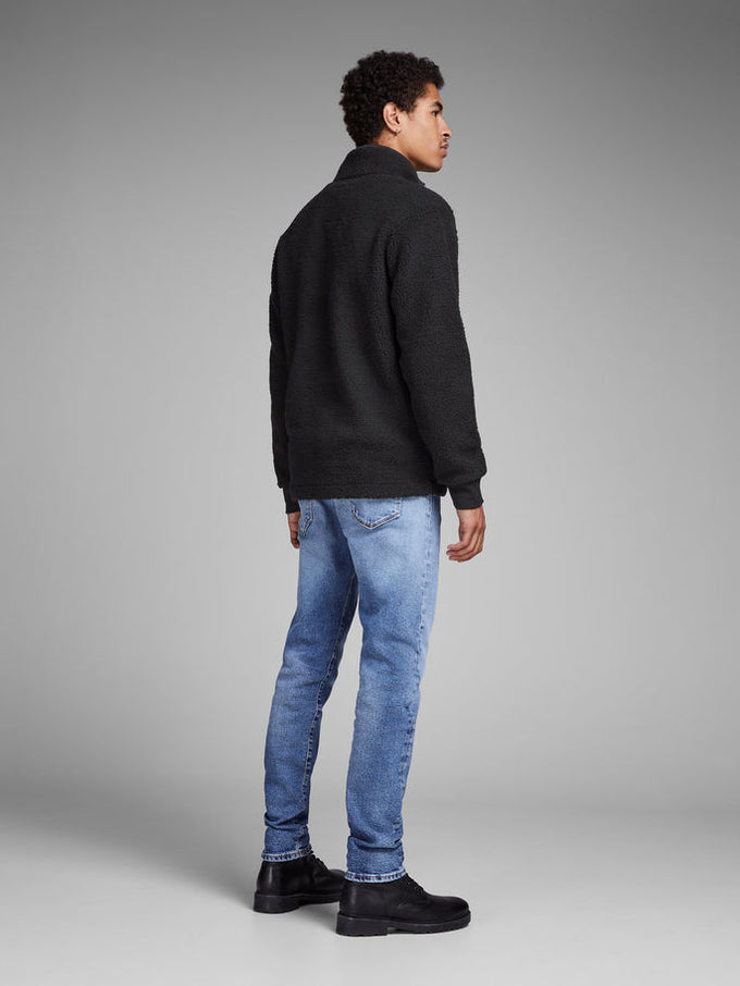 SHERPA HALF-ZIP SWEATSHIRT BLACK