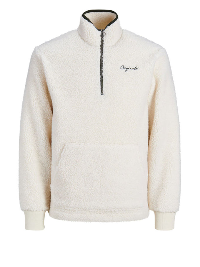 SHERPA HALF-ZIP SWEATSHIRT CLOUD DANCER